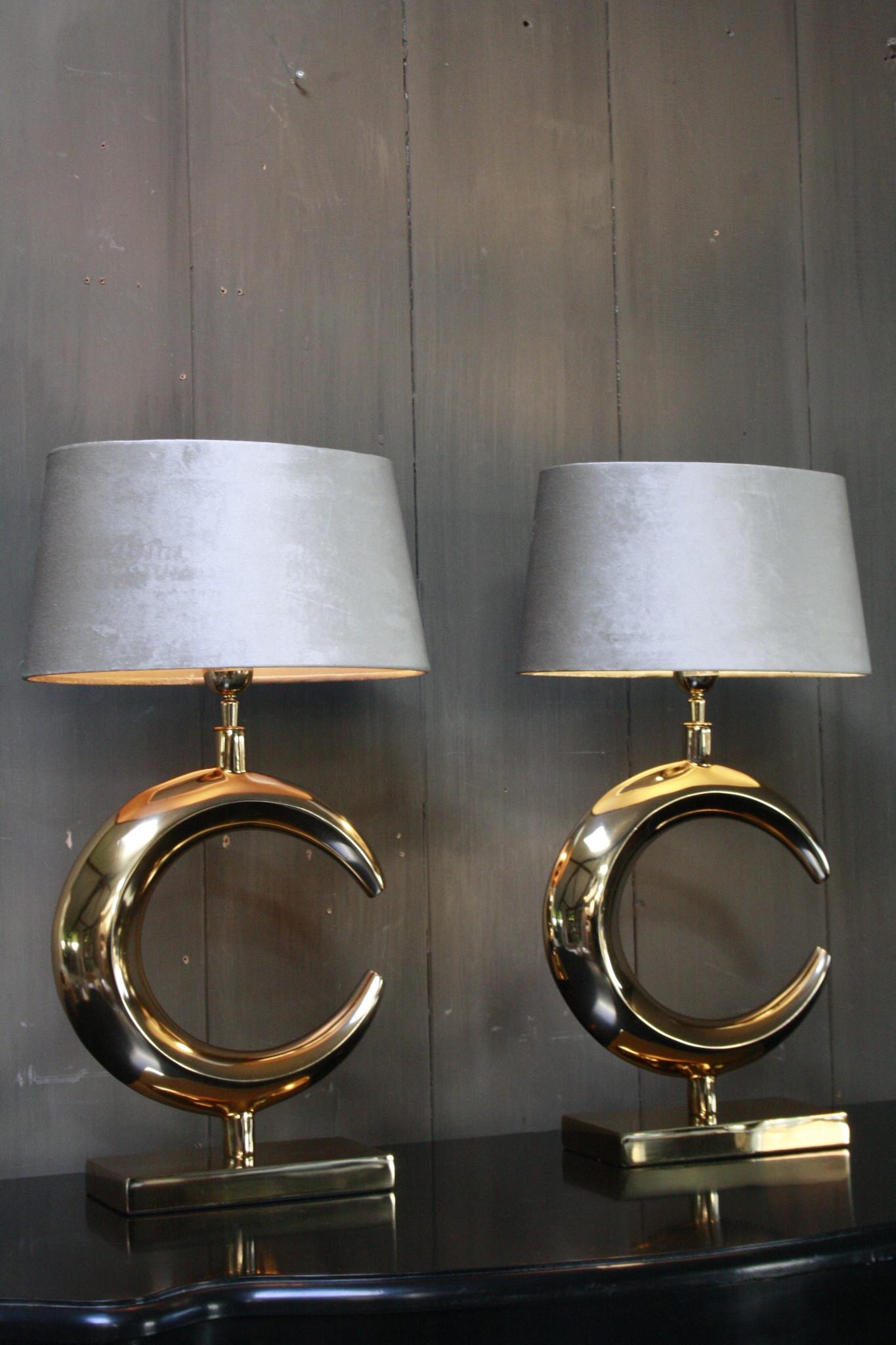 Tafellamp Goud Rond + Velours kap Eric Kuster-1