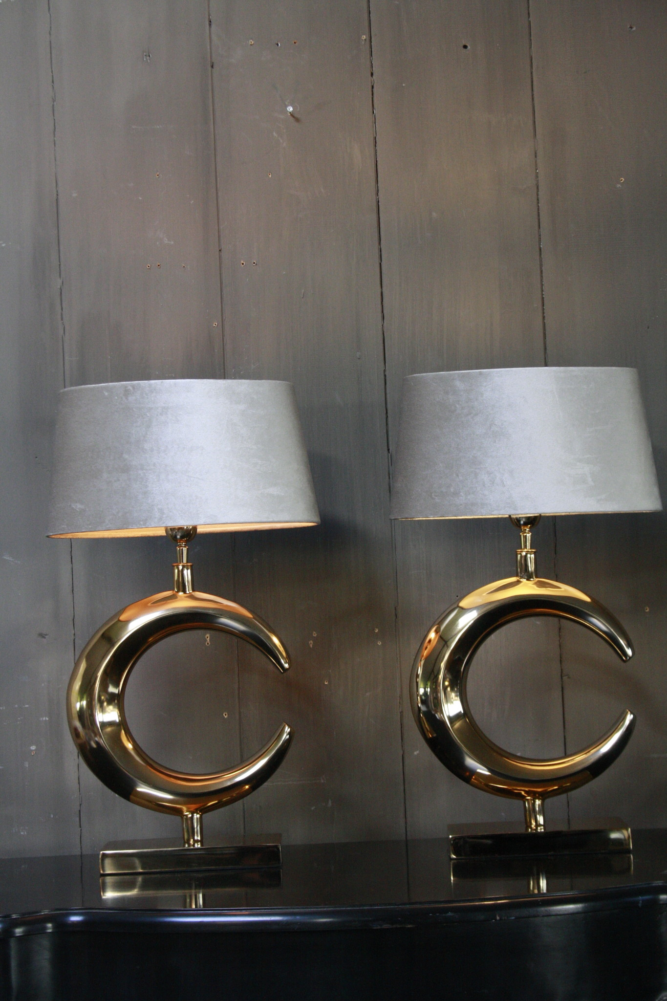 Tafellamp Goud Rond + Velours kap Eric Kuster-3