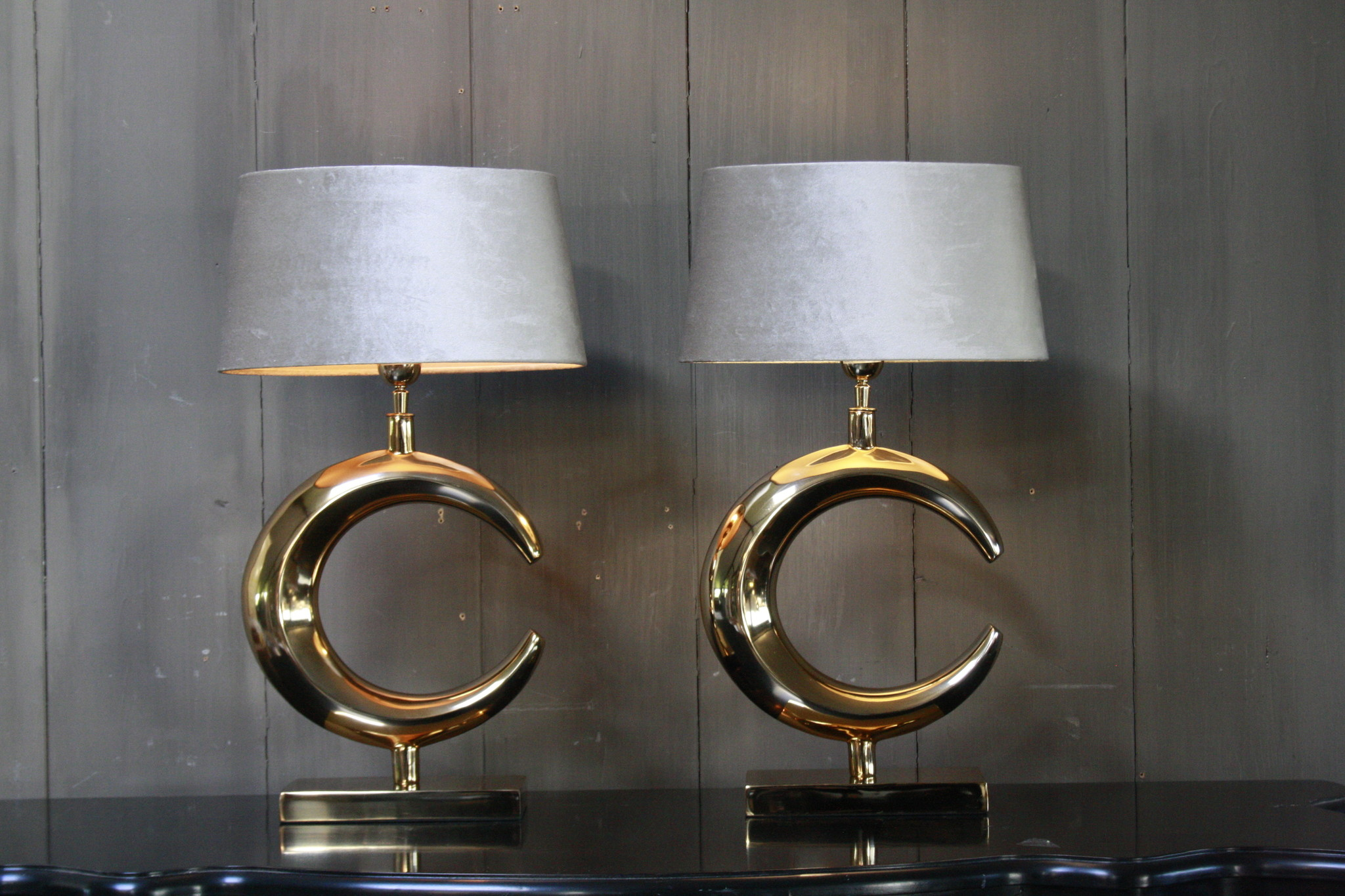 Tafellamp Goud Rond + Velours kap Eric Kuster-4