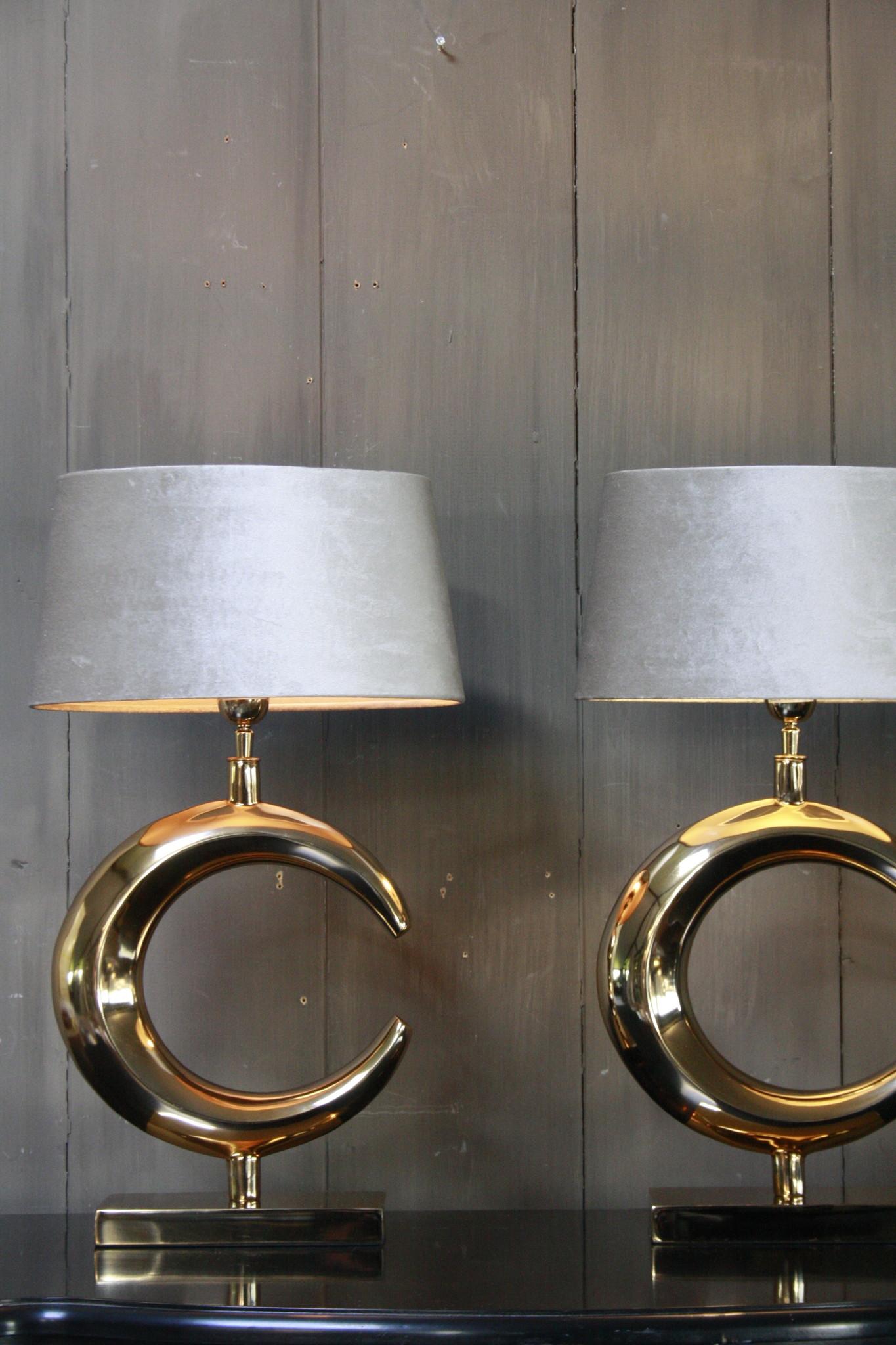 Tafellamp Goud Rond + Velours kap Eric Kuster-5