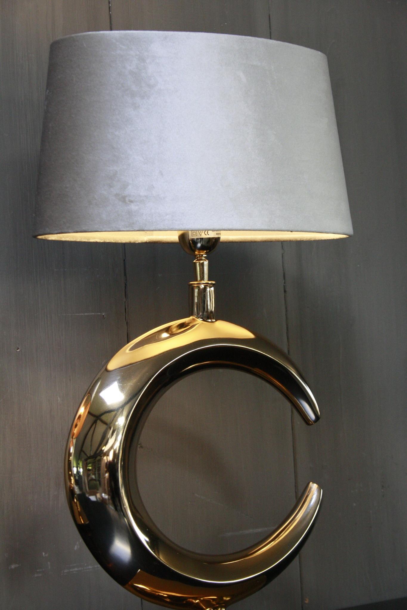 Tafellamp Goud Rond + Velours kap Eric Kuster-6