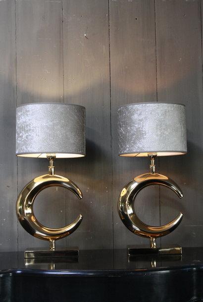 Tafellamp Goud Rond + Chelsea Velours kap Eric Kuster