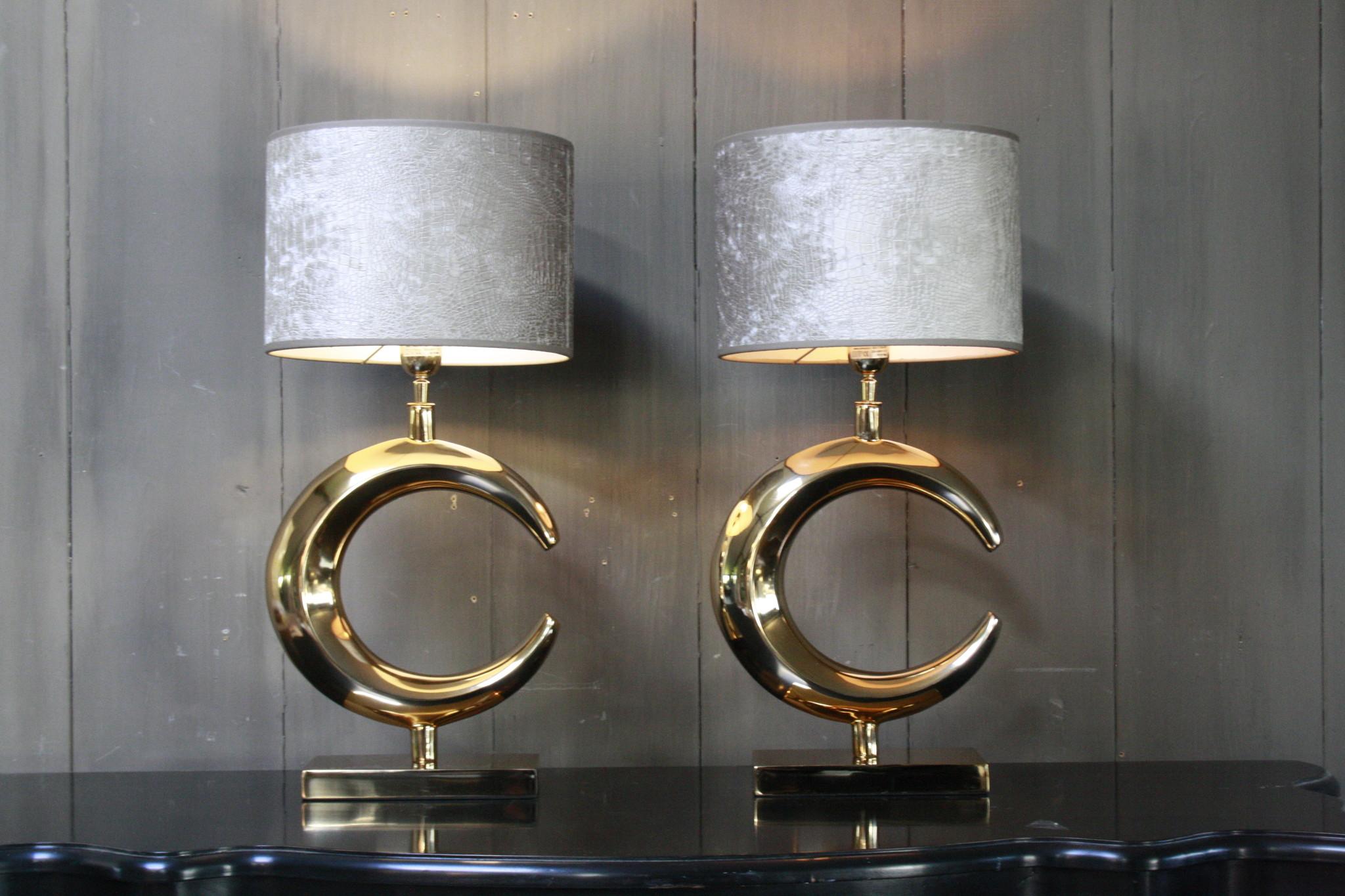 Tafellamp Goud Rond + Chelsea Velours kap Eric Kuster-3
