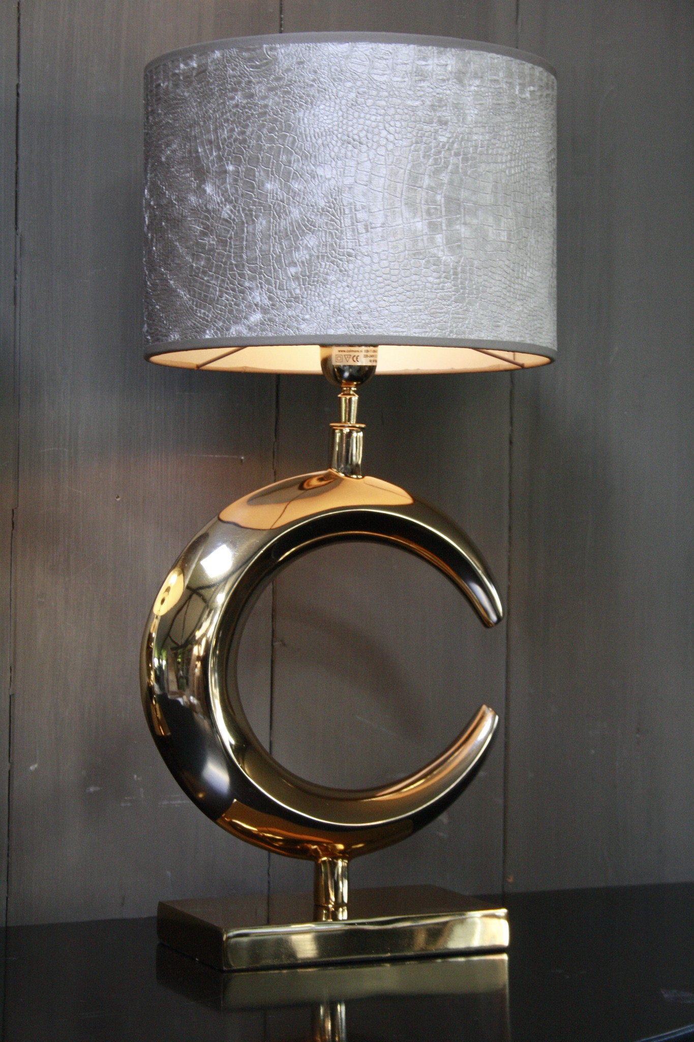 Tafellamp Goud Rond + Chelsea Velours kap Eric Kuster-5