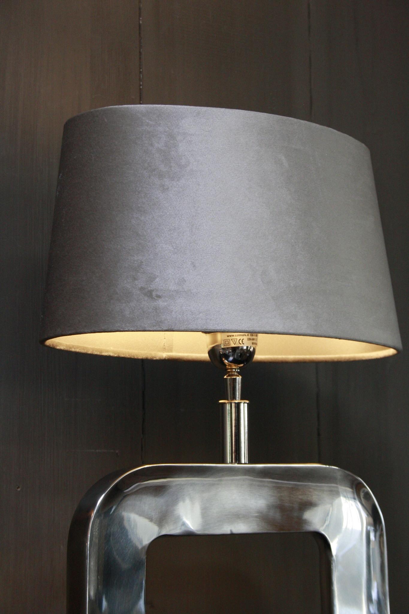 Tafellamp Moderno Zilver + Velours kap Eric Kuster-3