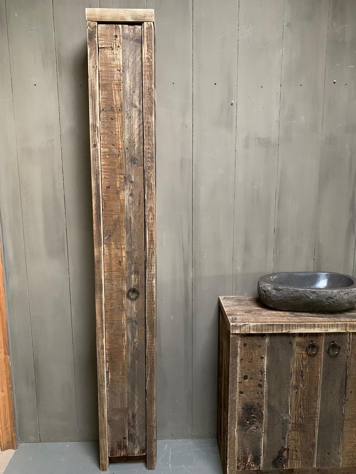 Oud houten badkamermeubel Kelsey 90 cm-6