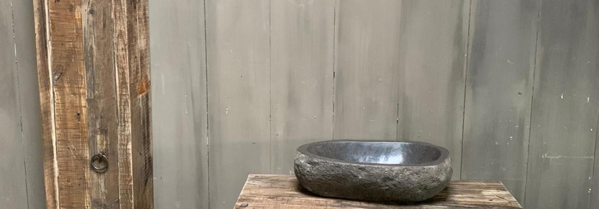 Oud houten badkamermeubel Kelsey 90 cm