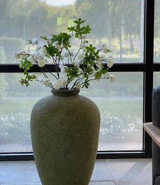 Grote olijfgroene pot/vaas 70 cm