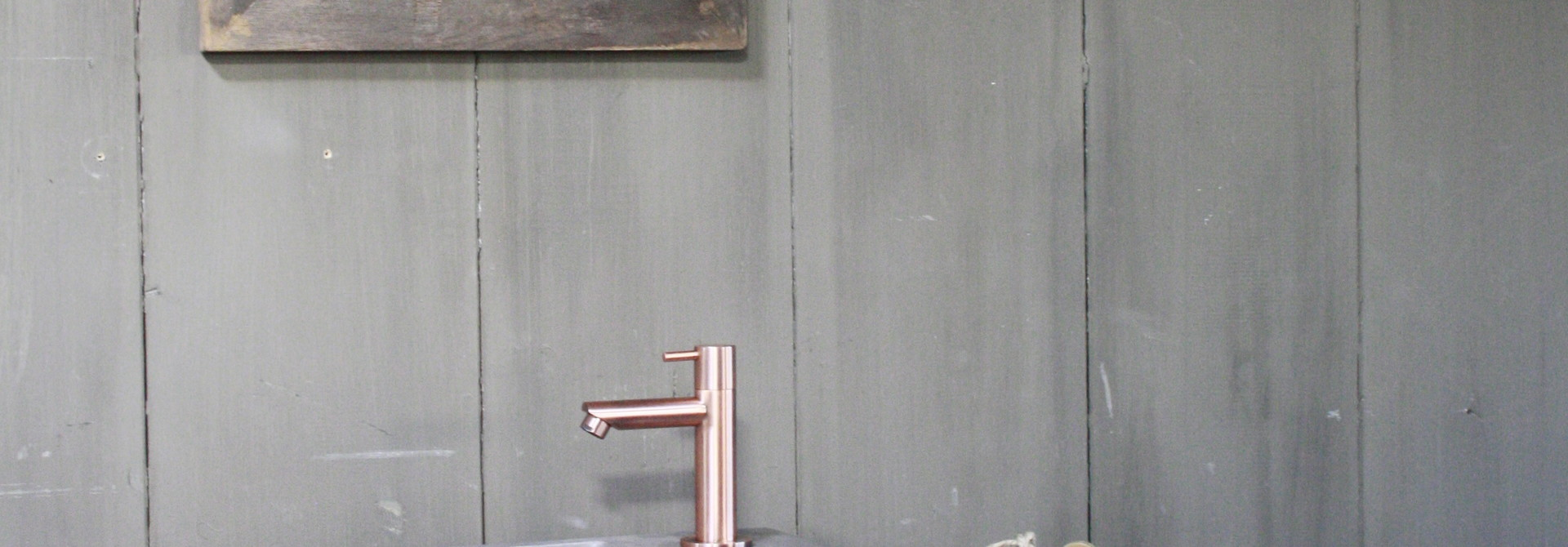 Rosa - Fonteinmeubelset - Beton - Koper
