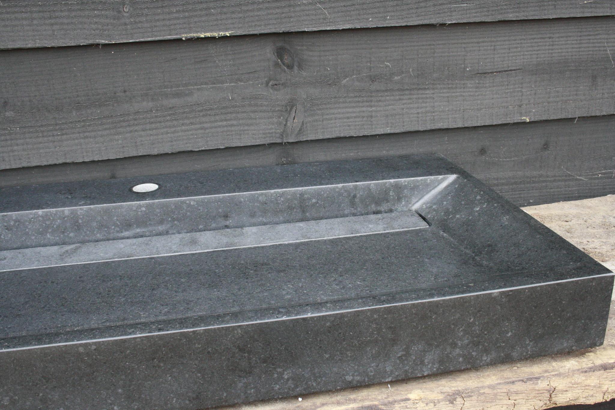 Wastafel Natuursteen Gezoet 100x47x9 cm-3