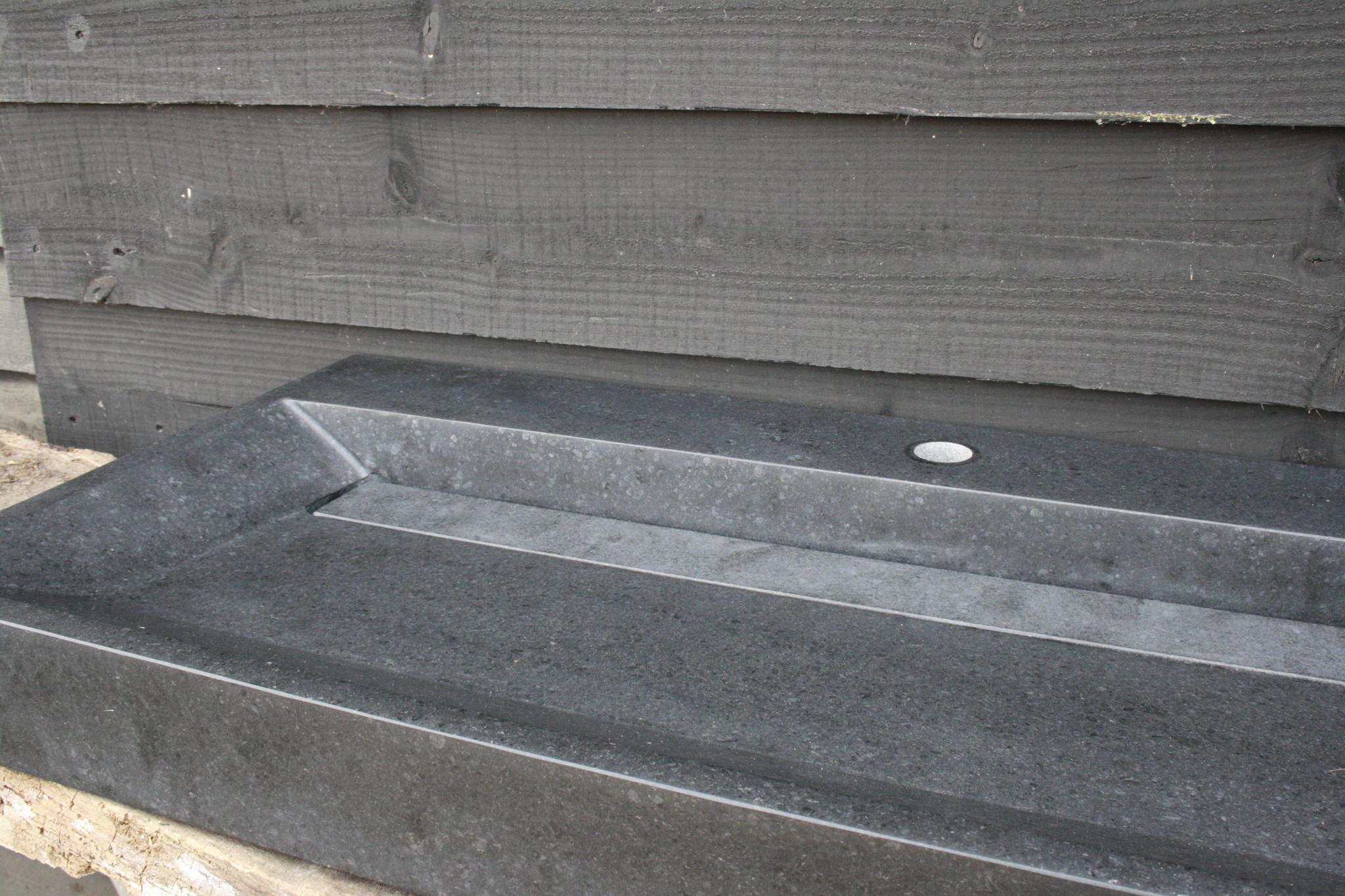 Wastafel Natuursteen Gezoet 100x47x9 cm-6