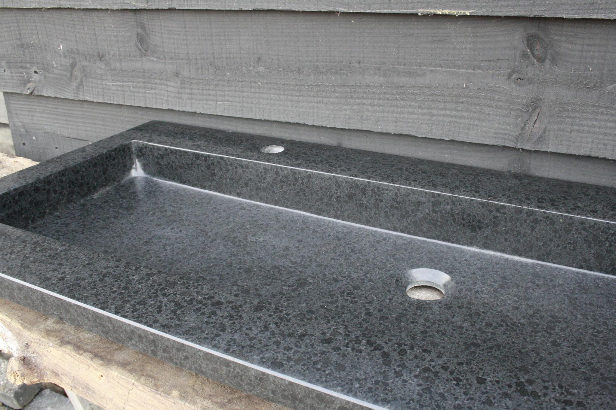 Wastafel Natuursteen Gezoet 140,5x51,5x9,5 cm-2