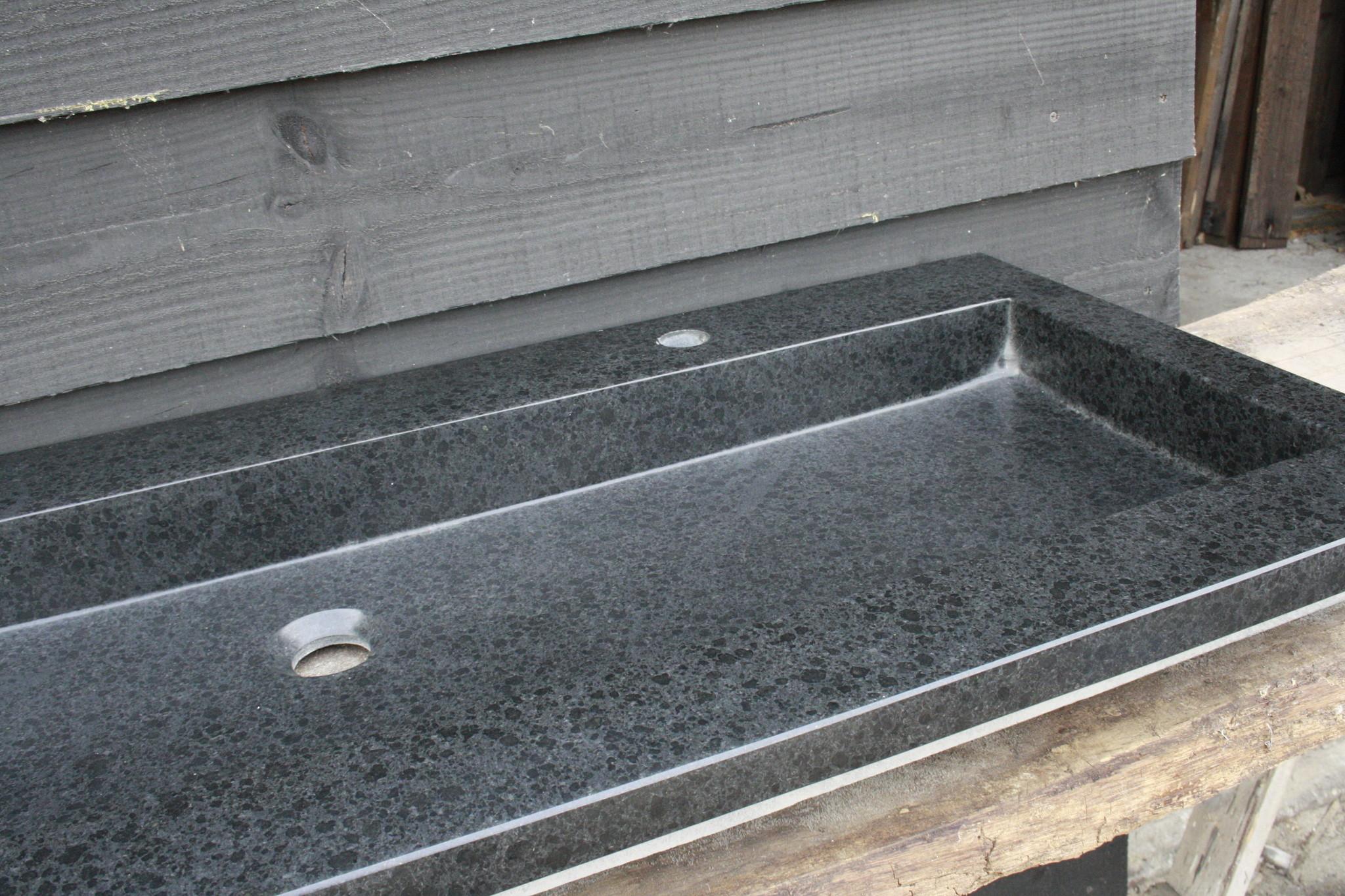 Wastafel Natuursteen Gezoet 140,5x51,5x9,5 cm-3