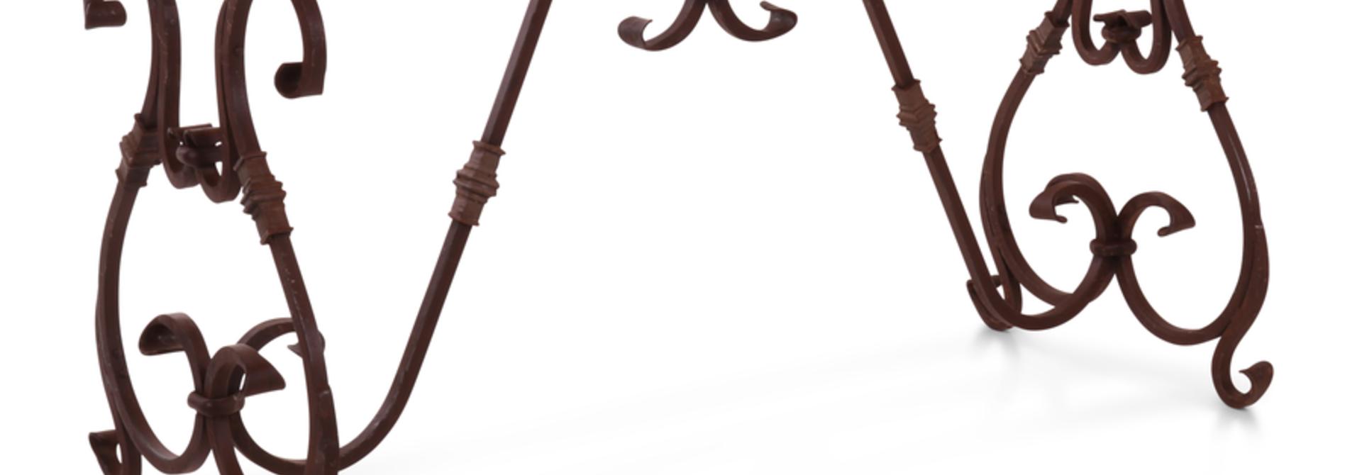 Smeedijzeren Tafelonderstel Krulpoten 140x60 cm