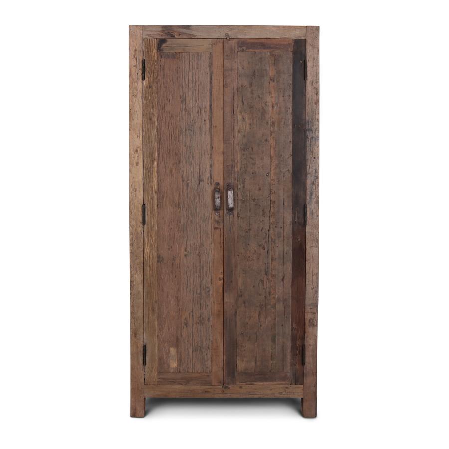 Oud Teak Kast Barrano 90x40x195 cm 2 deurs-3