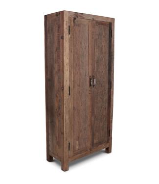 Rene Houtman Oud Teak Kast Barrano 90x40x195 cm 2 deurs