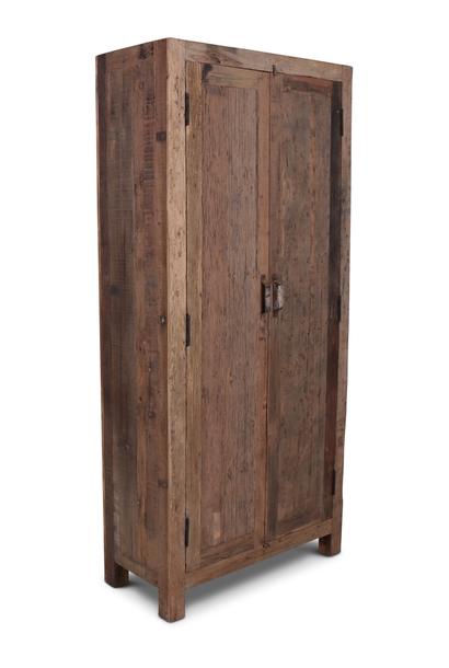 Oud Teak Kast Barrano 90x40x195 cm 2 deurs