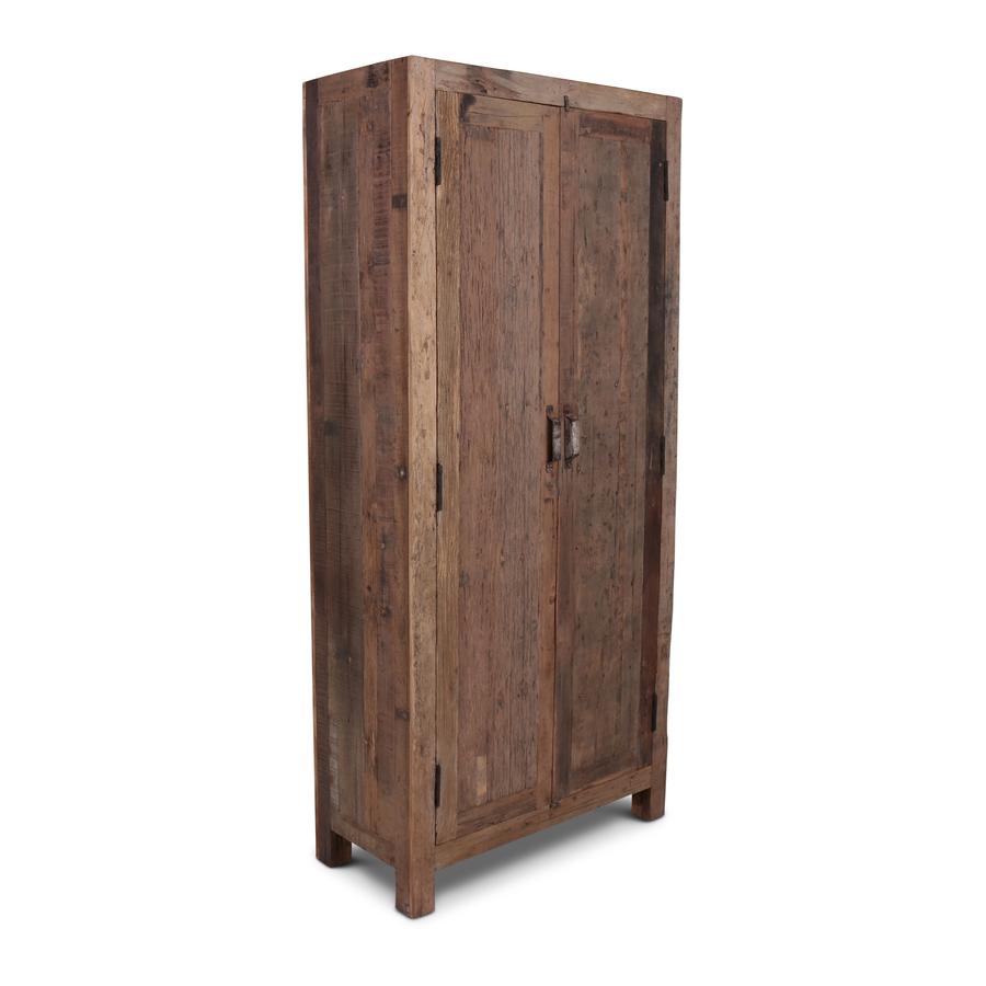 Oud Teak Kast Barrano 90x40x195 cm 2 deurs-1