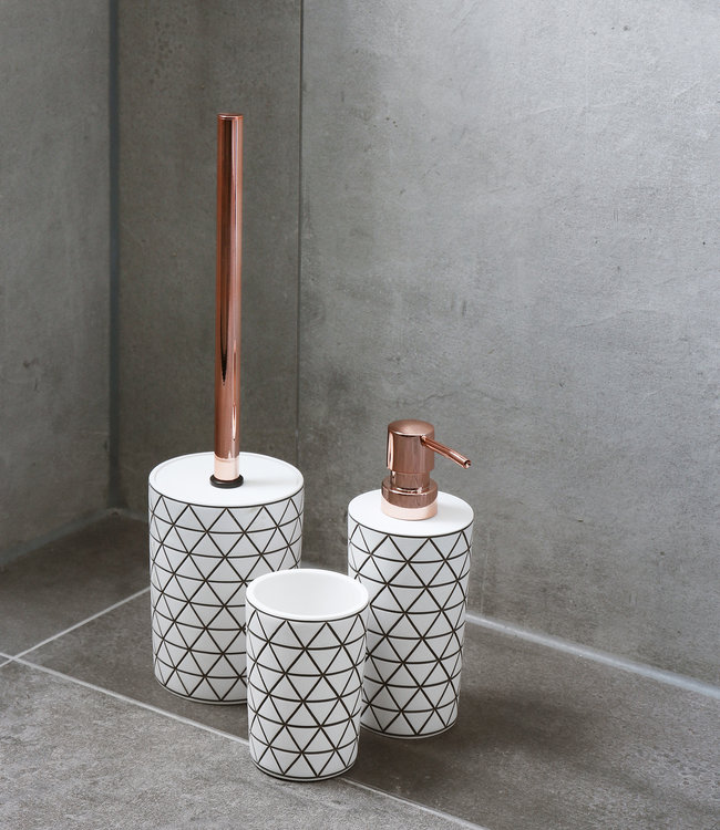 Accessoires Set Toilet Badkamer Pastille Wit