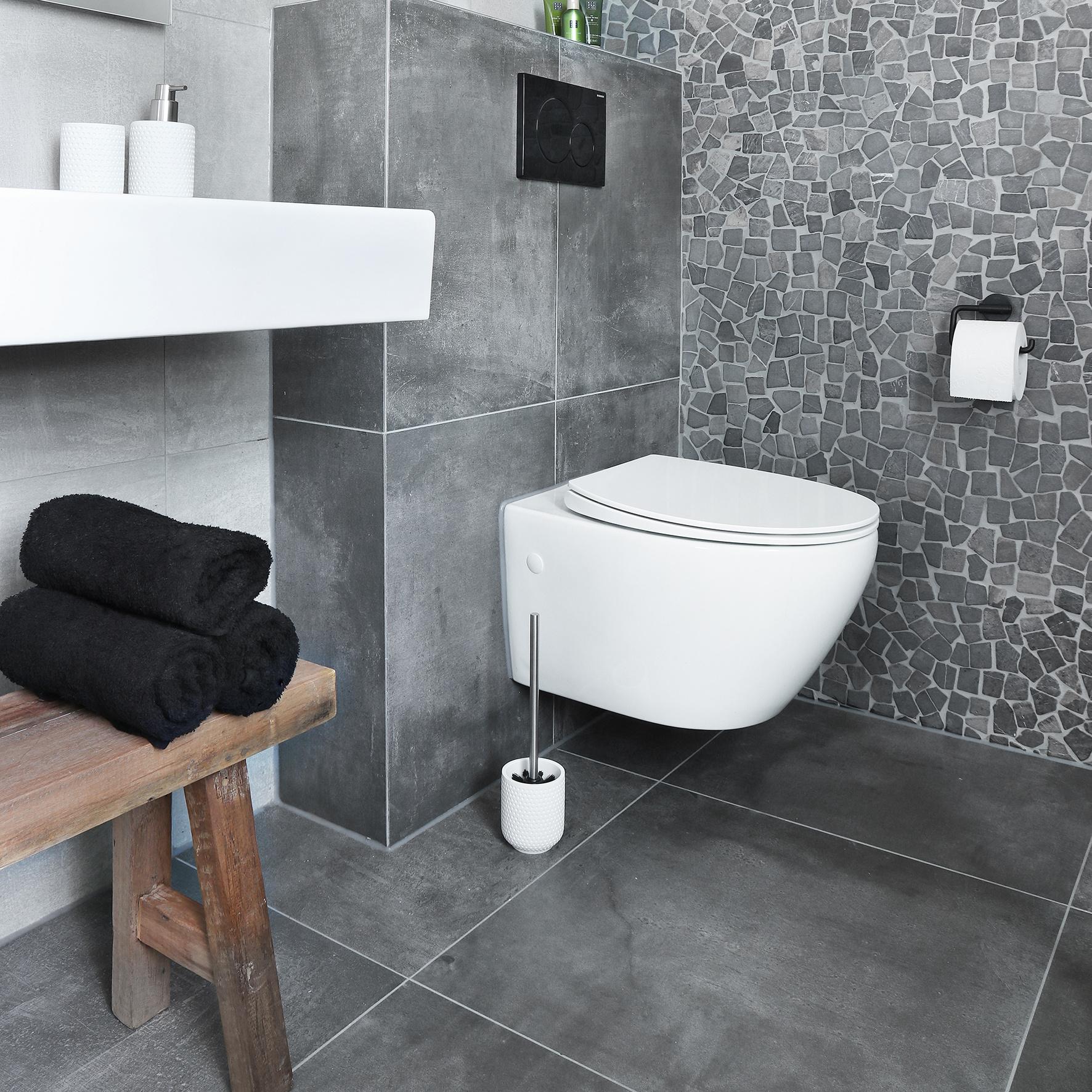 Accessoires Set Toilet Badkamer Club Wit-5