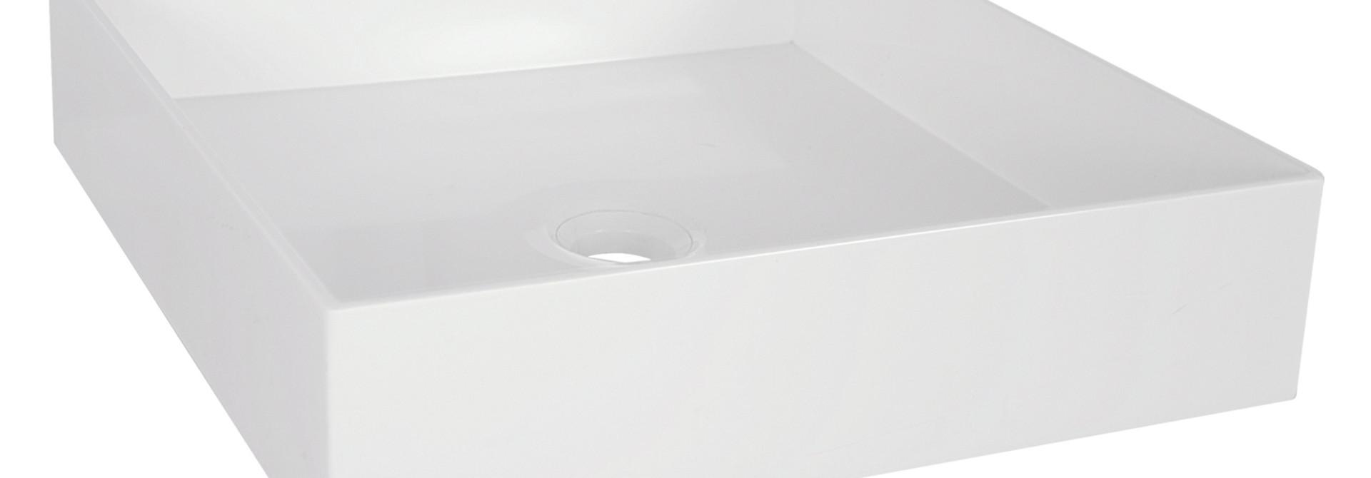 Waskom Polybeton 42x42x10 cm Vierkant