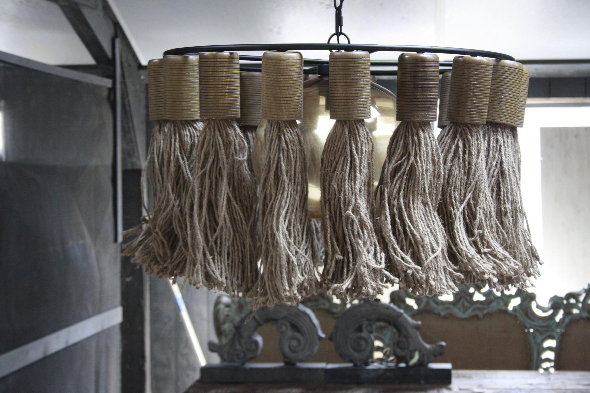 Hanglamp Adonia Kwast Naturel 57x31 cm-2