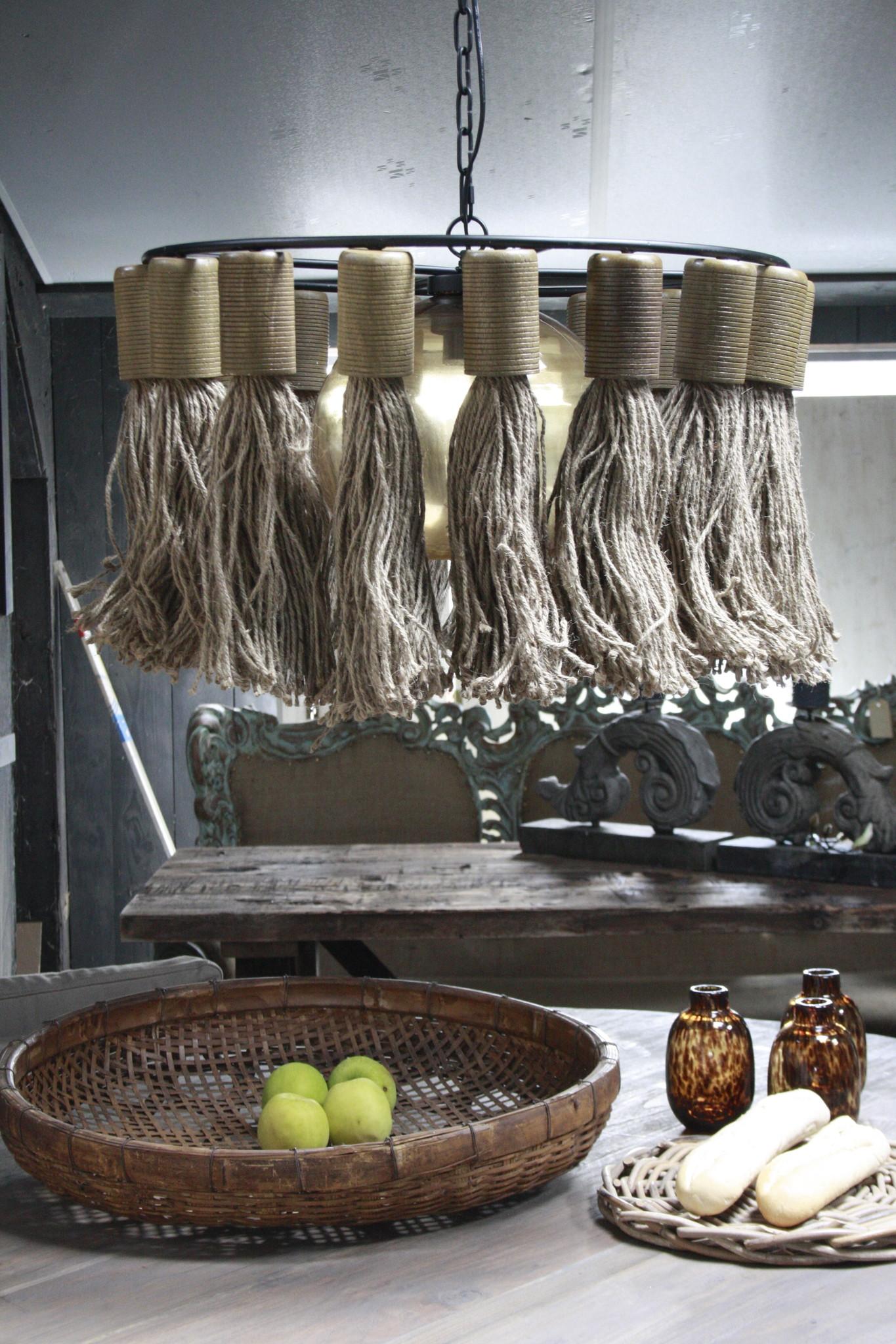 Hanglamp Adonia Kwast Naturel 57x31 cm-4