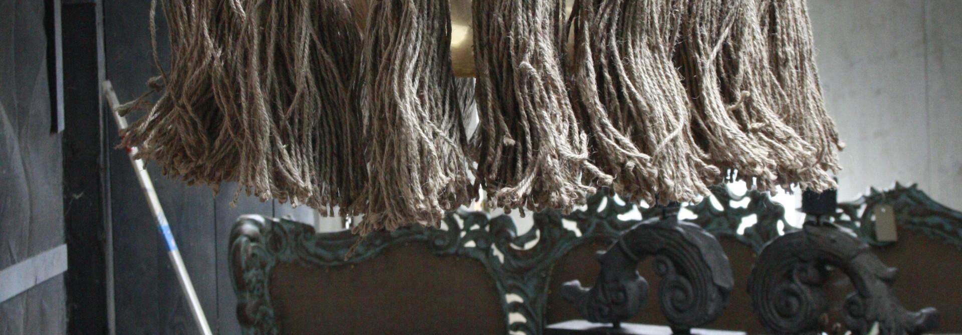 Hanglamp Adonia Kwast Naturel 57x31 cm