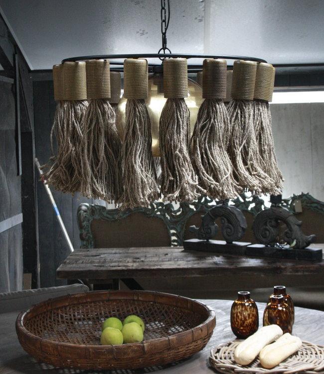 Rene Houtman Hanglamp Adonia Kwast Naturel 57x31 cm
