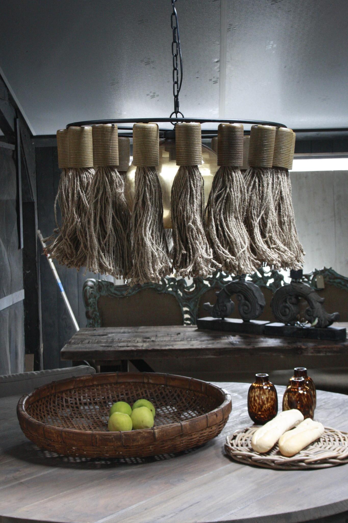 Hanglamp Adonia Kwast Naturel 57x31 cm-1