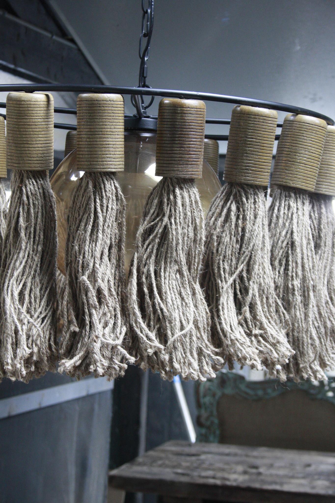Hanglamp Adonia Kwast Naturel 57x31 cm-5