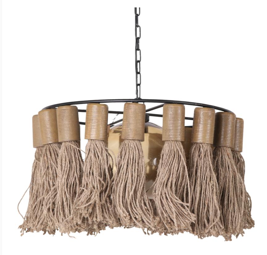 Hanglamp Adonia Kwast Naturel 57x31 cm-3
