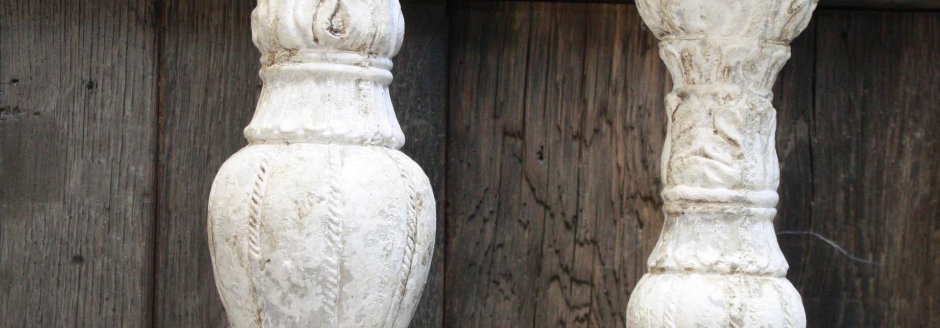 Stenen PTMD Kaarshouder 44&34 cm set van 2