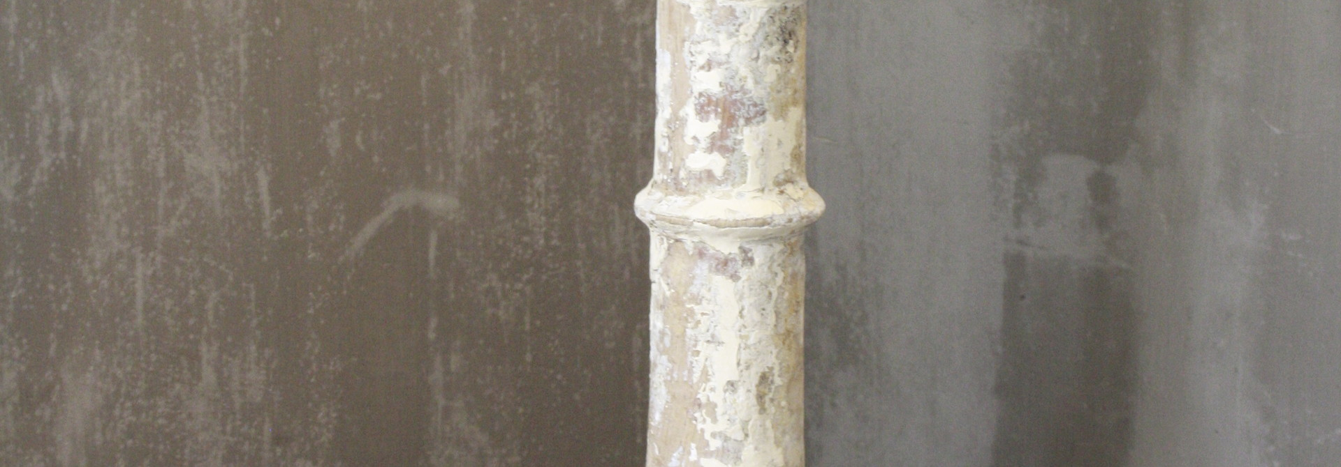 Balusterlamp Oud Hout Wit Tint 66 cm