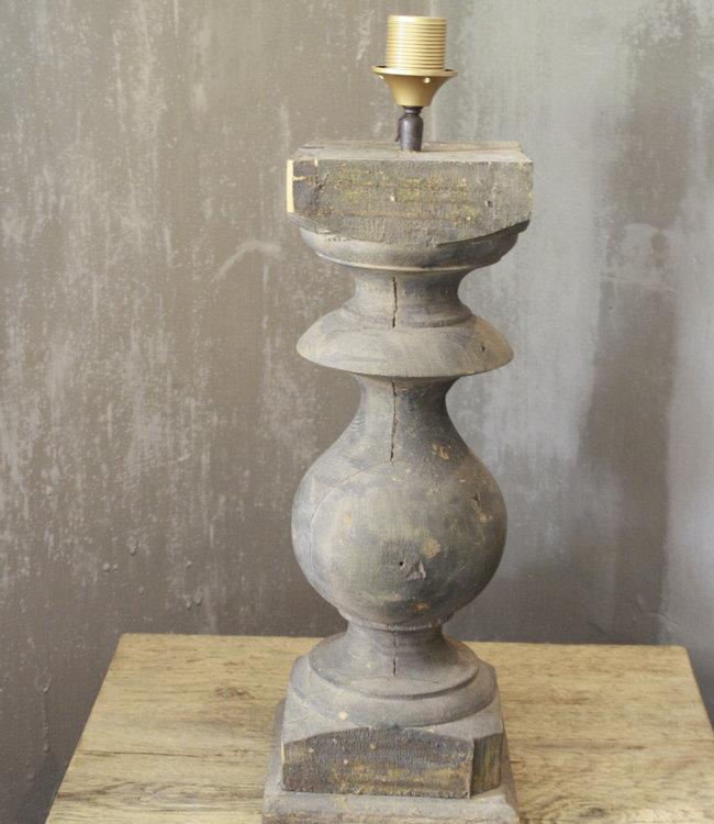 Balusterlamp Oud Hout L65 cm Grijs