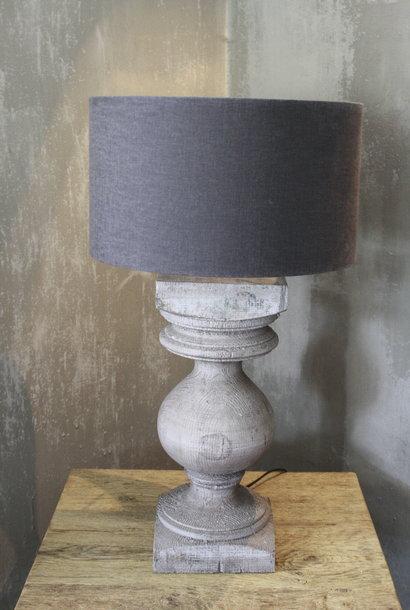 Balusterlamp Grijs + lampenkap L64 cm