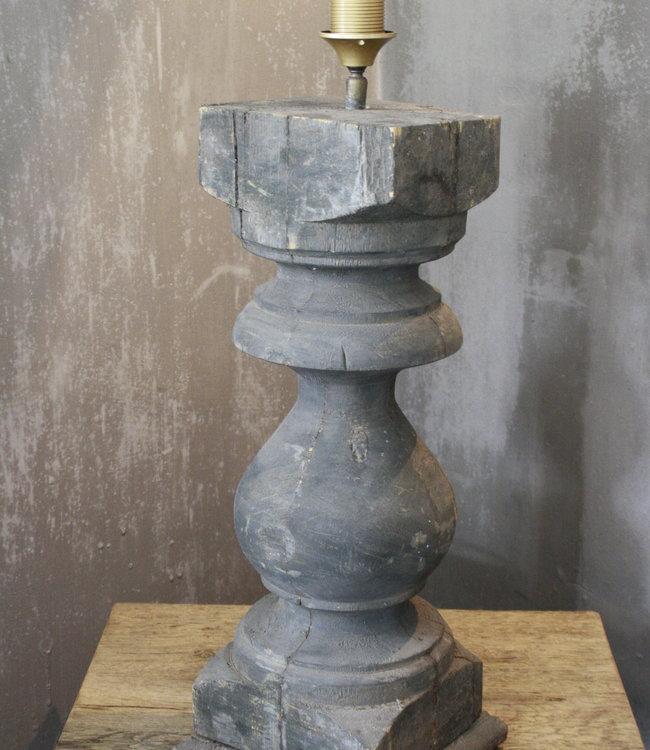 Balusterlamp Oud Hout Robuust 65 cm