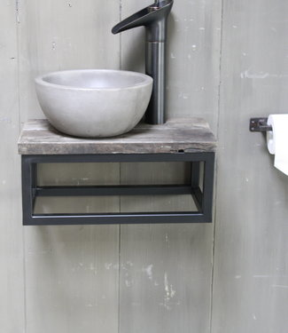 Rene Houtman Boris fonteinmeubelset beton incl. hoge kraan zwart