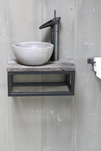 Boris fonteinmeubelset beton incl. hoge kraan zwart