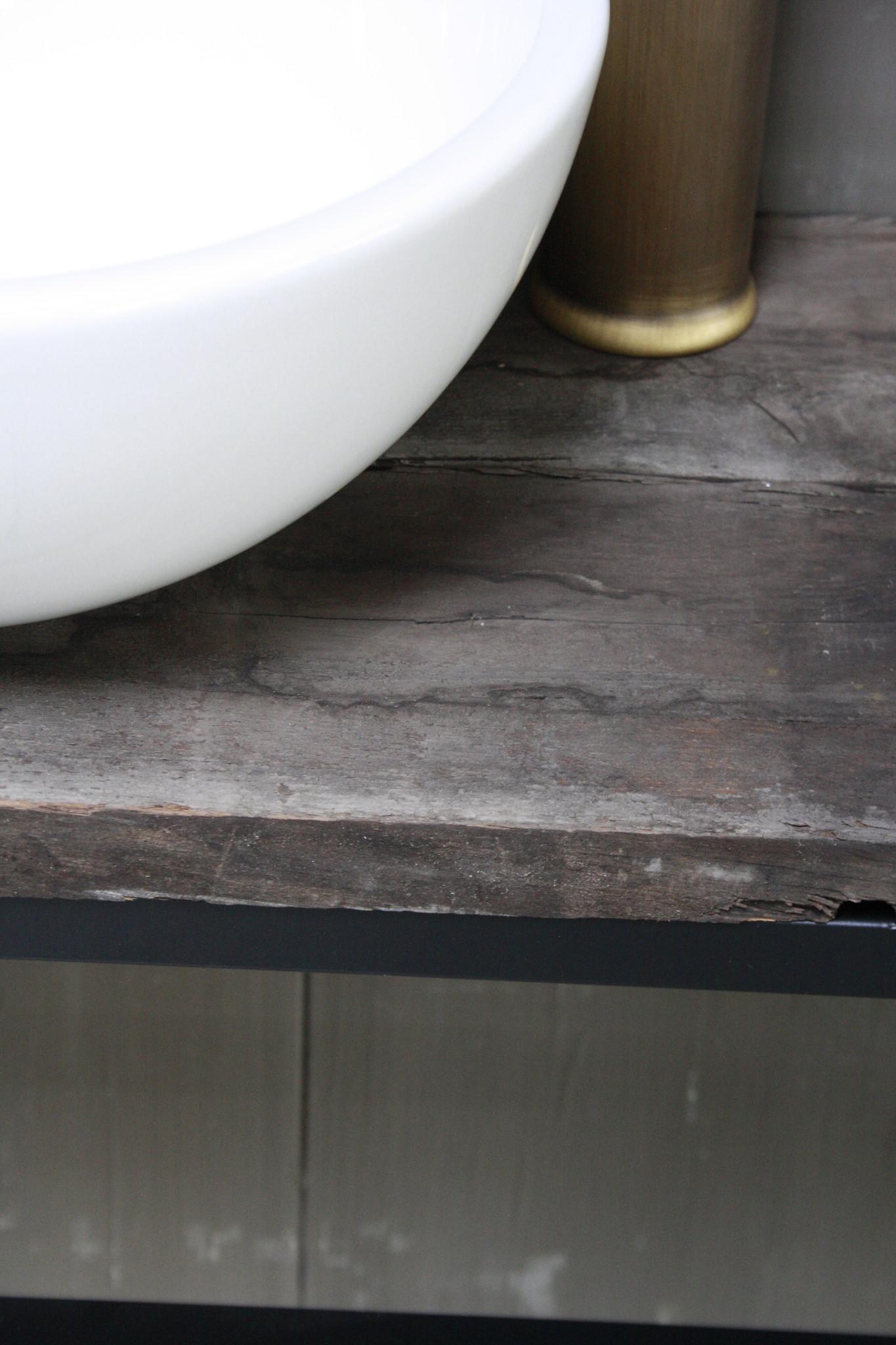Boris fonteinmeubelset wit incl. hoge kraan brons-4