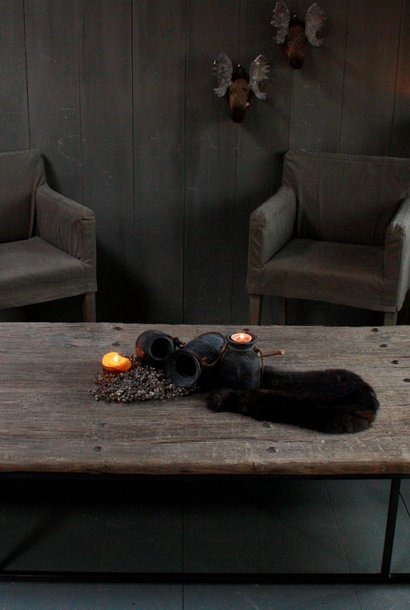 Oud houten salontafel India oude deur 180x96