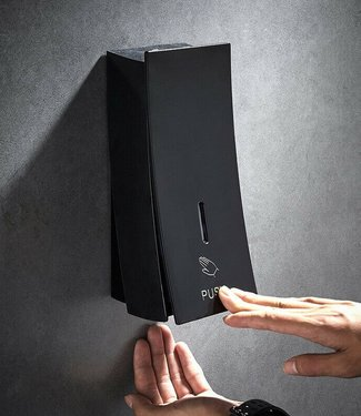 Zwarte zeepdispenser 450 ML ABS