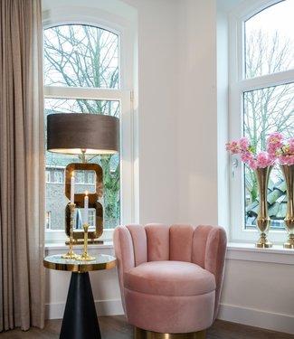 Richmond Richmond Fauteuil Mayfair - Pink velvet