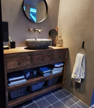Rene Houtman Landelijk badkamermeubel met lades en planken 120 cm