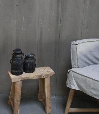 Rene Houtman Krukje/Bankje oud hout H45xL42xD16