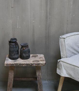 Rene Houtman Krukje/Bankje oud hout H46xL45xD24