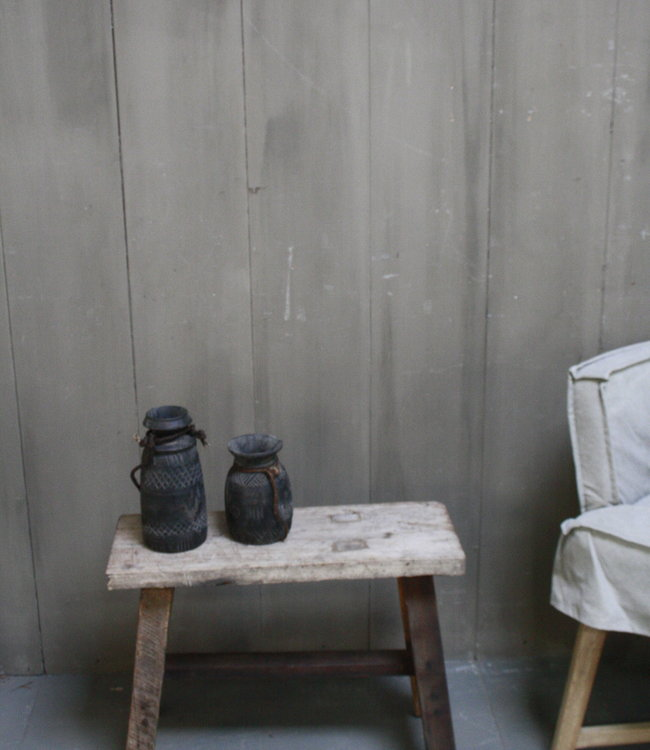 Rene Houtman Krukje/Bankje oud hout H45xL60xD23