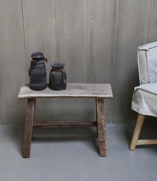 Rene Houtman Krukje/Bankje oud hout H46xL61xD22