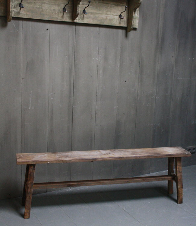 Rene Houtman Eetkamerbank oud hout L142 x H45 x B20 cm
