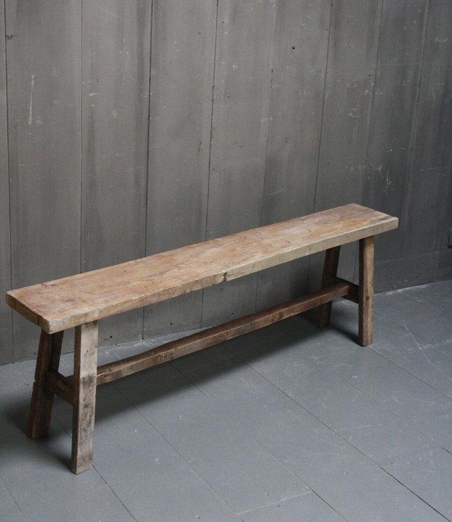 Rene Houtman Eetkamerbank oud hout L141 x H45 x B19 cm